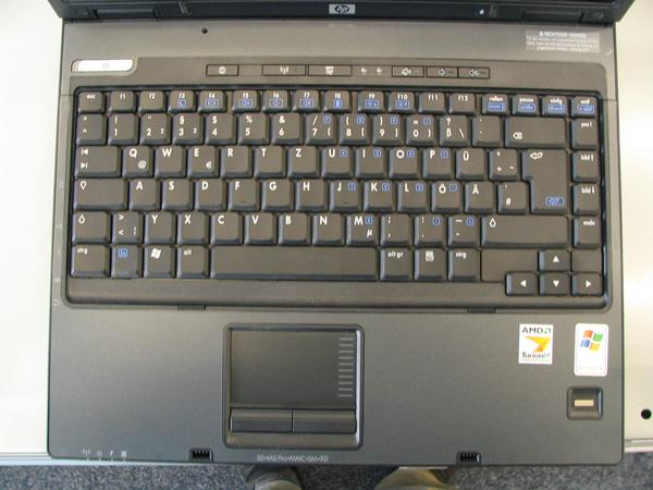 Keyboard hp Compaq nx6125 Overview about the keyboard layout of 12 actual laptops from December 2005.