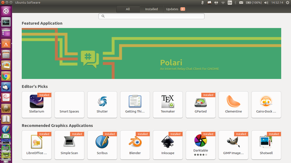 Ubuntu Software As simple as the Google Play Store is looking for software and install it. Android is basically only the most widely used Linux variant. Picture 1